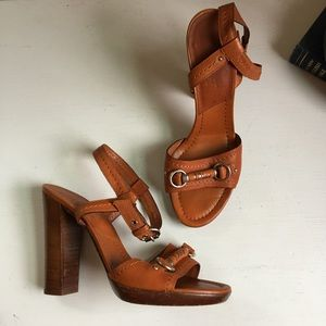 Christian Dior Stacked Heeled Sandals